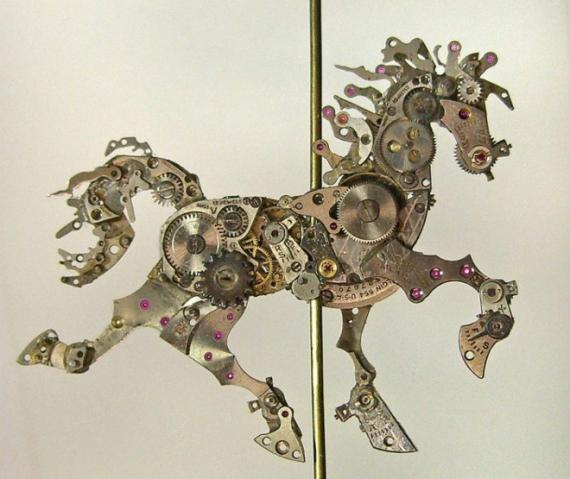 watch parts sculptures
